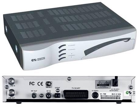 General Satellite VA-7200 панель и разъёмы подключения