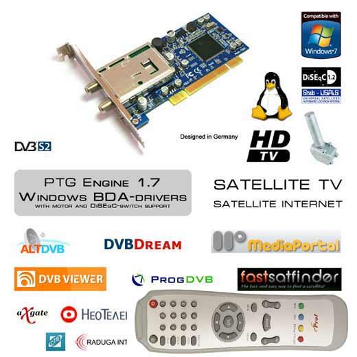 Prof Revolution 7301 спутниковая DVB-S2 карта