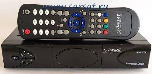BigSAT BS-S 67CR perednyaya panel resivera